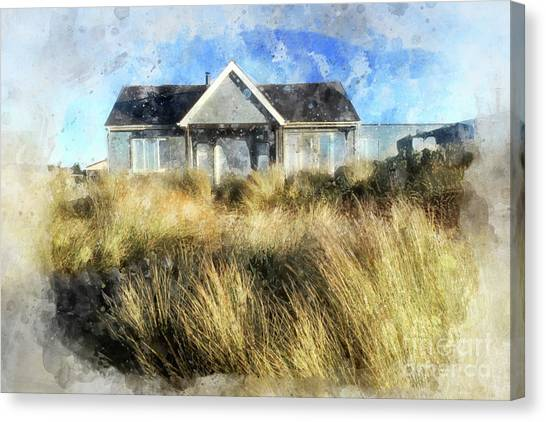 Summer Canvas Print - The Beach House by John Edwards