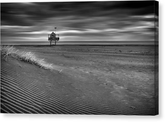 Beach Cabin Canvas Print - The Beach Hut by Peter Elgar