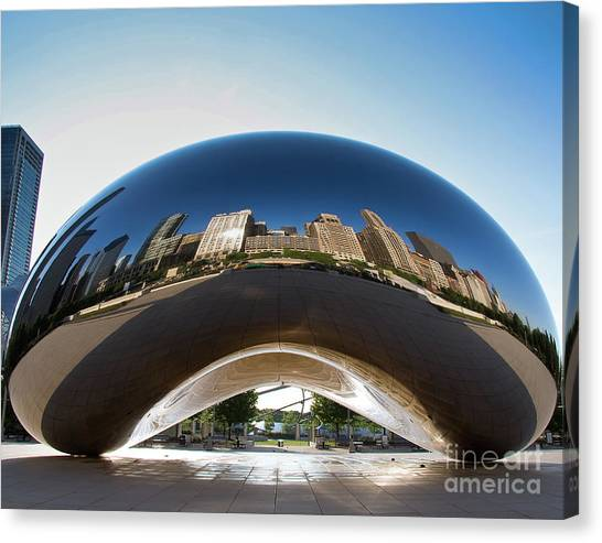 The Bean's Early Morning Reflections Canvas Print