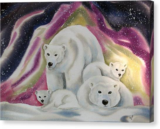 The Bear Family Canvas Print by Amelie Gates