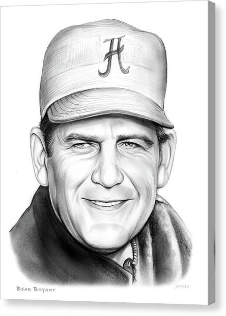 Alabama Canvas Print - The Bear by Greg Joens