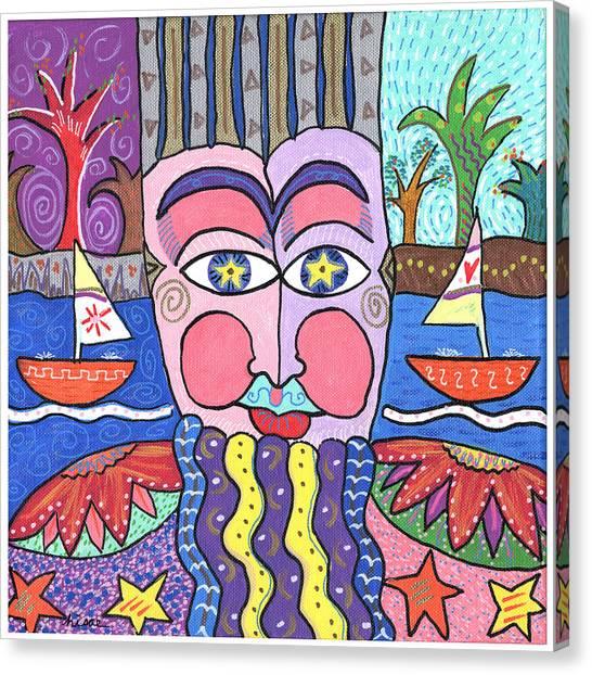 The Bearded Man Canvas Print by Sharon Nishihara