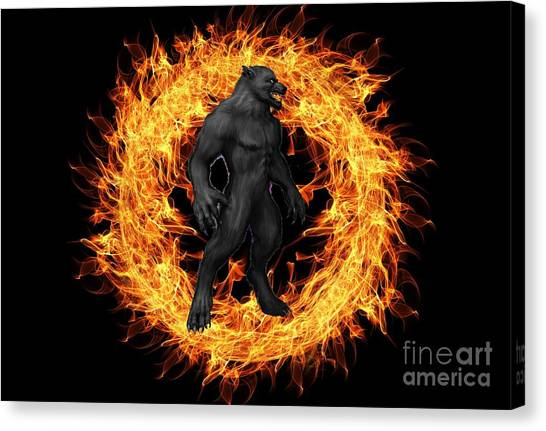 The Beast Emerges From The Ring Of Fire Canvas Print