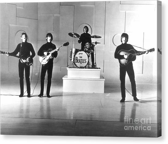 Percussion Instruments Canvas Print - The Beatles, 1965 by Granger