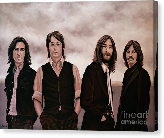 The Beatles Canvas Print - The Beatles 3 by Paul Meijering