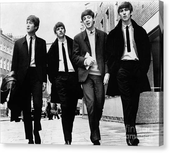 Men Canvas Print - The Beatles by Granger