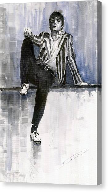 John Lennon Canvas Print - The Beatles John Lennon Reflection by Yuriy Shevchuk