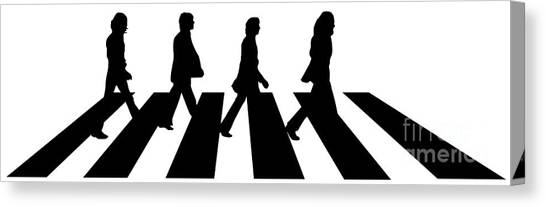 Famous Artists Canvas Print - The Beatles No.02 by Fine Artist