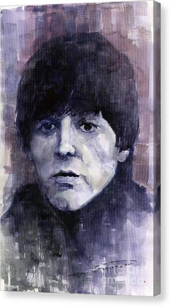 Paul Mccartney Canvas Print - The Beatles Paul Mccartney by Yuriy Shevchuk