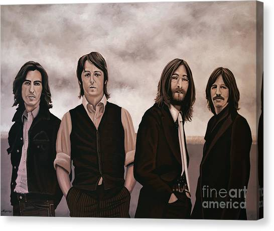 Paul Mccartney Canvas Print - The Beatles 3 by Paul Meijering