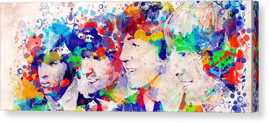 George Harrison Canvas Print - The Beatles Tb by Bekim Art