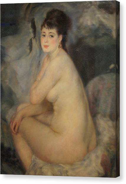 The Beautiful Anna Canvas Print by Pierre Auguste Renoir