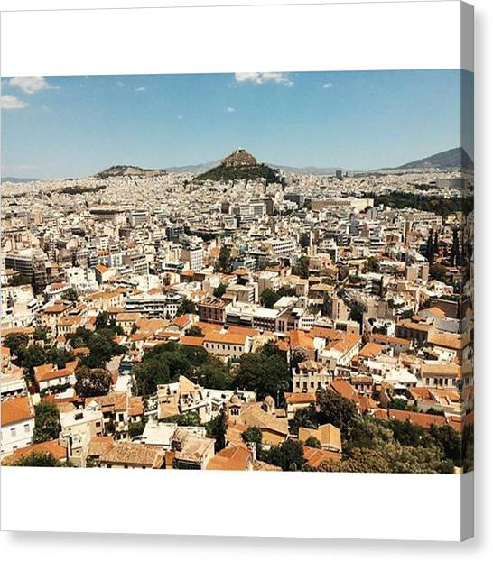 The Acropolis Canvas Print - The Beautiful City Of Athens, Greece by Clarens Clarens