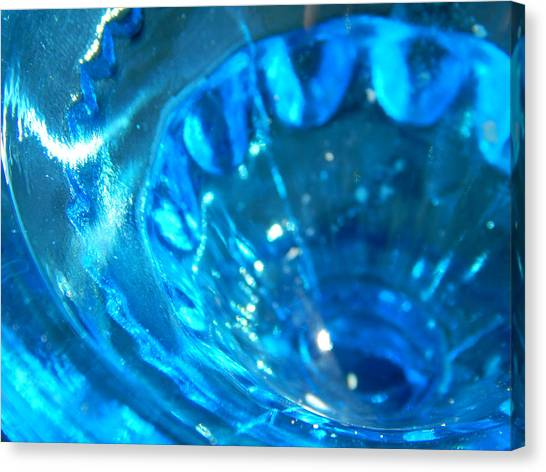The Beauty Of Blue Glass Canvas Print