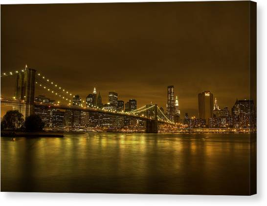 The Beauty Of Manhattan Canvas Print by Andreas Freund