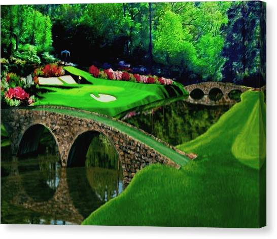 Arnold Palmer Canvas Print - The Beauty Of The Masters Cropped Version by Ron Chambers