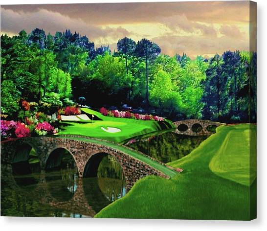 Arnold Palmer Canvas Print - The Beauty Of The Masters by Ron Chambers