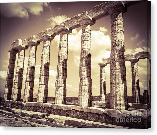 The Beauty Of The Temple Of Poseidon Canvas Print