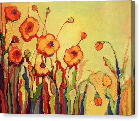 Peaches Canvas Print - The Beckoning by Jennifer Lommers