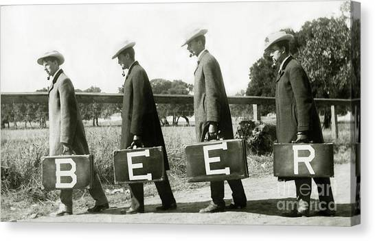 Vintage Chicago Canvas Print - The Beer Boys by Jon Neidert
