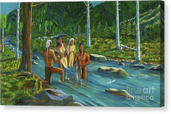 The Beginning Canvas Print by George Chacon