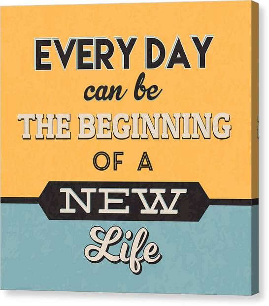 Lucky Canvas Print - The Beginning Of A New Life by Naxart Studio