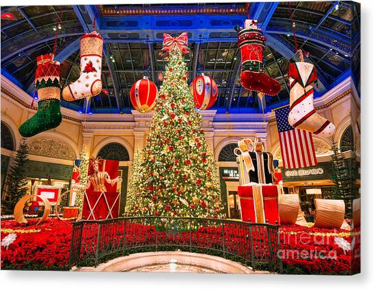 The Bellagio Christmas Tree 2015 Canvas Print