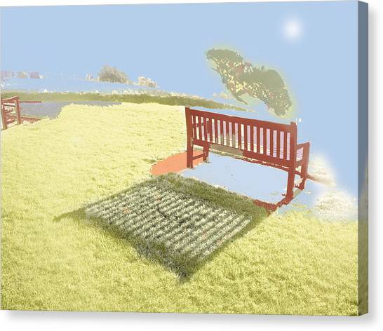The Bench At The Edge Of The World Canvas Print by Dan McCarthy