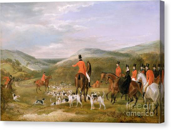 Rural Landscape Canvas Print - The Berkeley Hunt by Francis Calcraft Turner