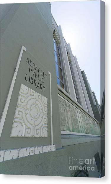The Berkeley Public Library Central Branch At University Of California Berkeley Dsc6320 Canvas Print