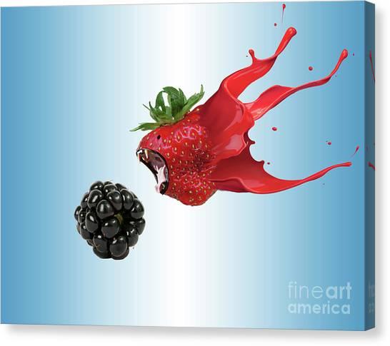 Blackberries Canvas Print - The Berries by Juli Scalzi