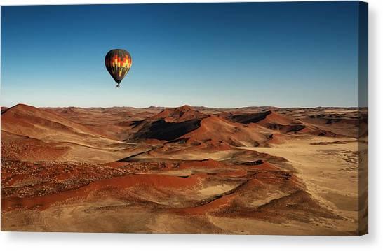 Flight Canvas Print - The Better Way For Visiting by Mathilde Guillemot