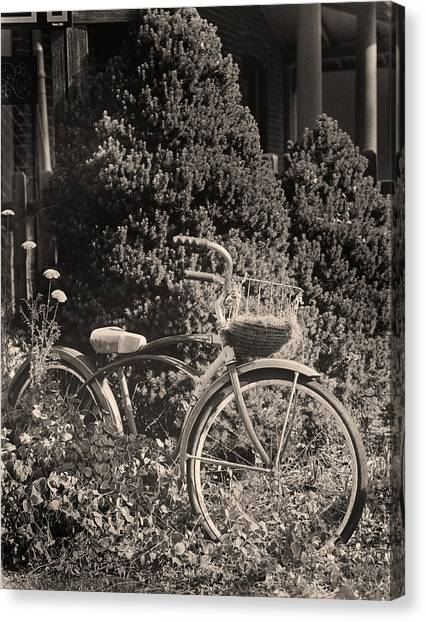 The Bicycle Garden II Canvas Print by Jim Furrer