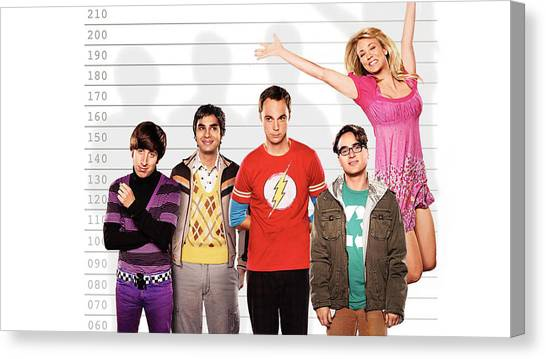 Golfers Canvas Print - The Big Bang Theory by Super Lovely
