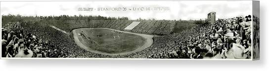 Stanford University Canvas Print - Stanford And U Of C 1925 by Jon Neidert