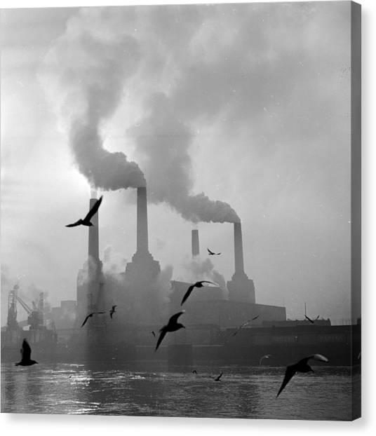 Pollution Canvas Print - The Big Smoke by Central Press