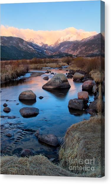 The Big Thompson River Flows Through Rocky Mountain National Par Canvas Print
