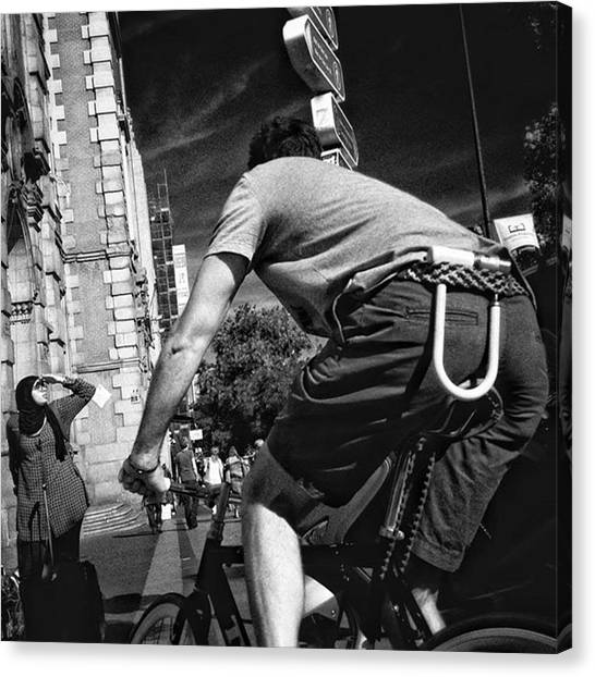 Madrid Canvas Print - The Biggest Cyclist Ever  #people by Rafa Rivas