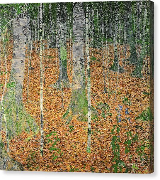 Gustav Klimt Canvas Print - The Birch Wood by Gustav Klimt
