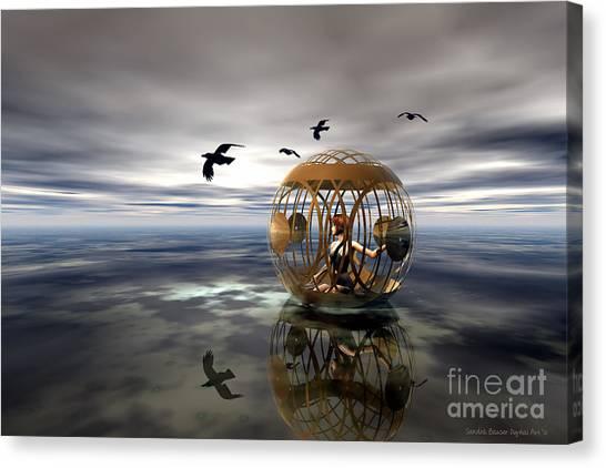 The Birdcage Canvas Print by Sandra Bauser Digital Art
