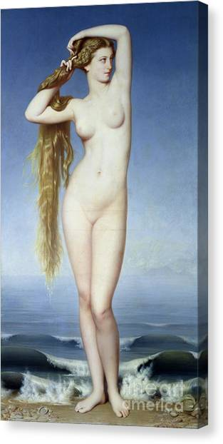 Venus Canvas Print - The Birth Of Venus by Eugene Emmanuel Amaury Duval