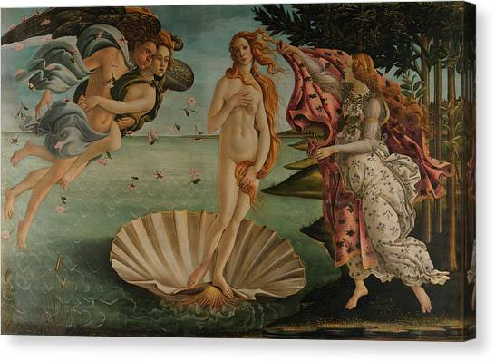 Botticelli Canvas Print - The Birth Of Venus, Original by Sandro Botticelli