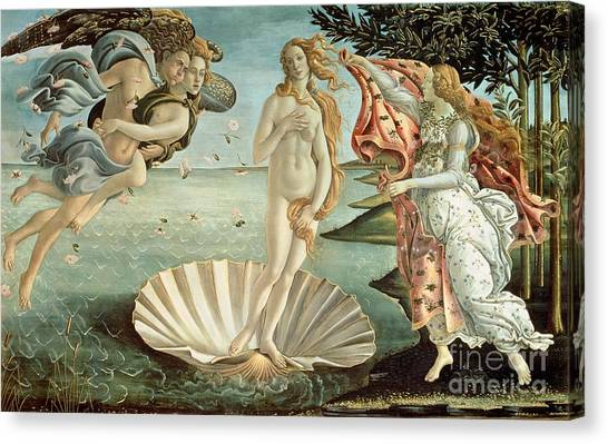 Botticelli Canvas Print - The Birth Of Venus by Sandro Botticelli