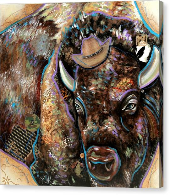 The Bison Canvas Print