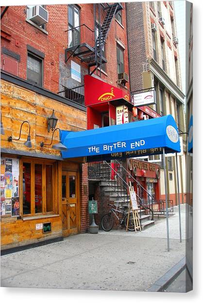 The Bitter End New York-greenwich Village Canvas Print by Candace Garcia
