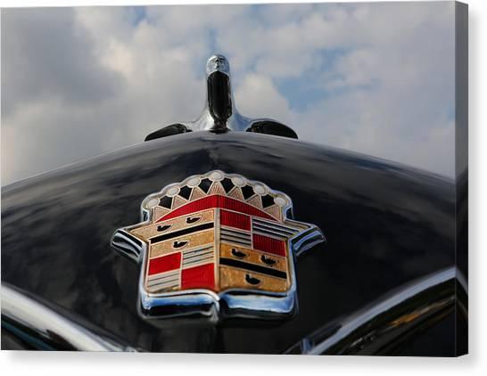 The Black Cadillac Angel - Cadillac Emblem  Canvas Print