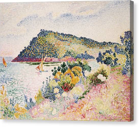Pointillism Canvas Print - The Black Cape Pramousquier Bay by Henri-Edmond Cross