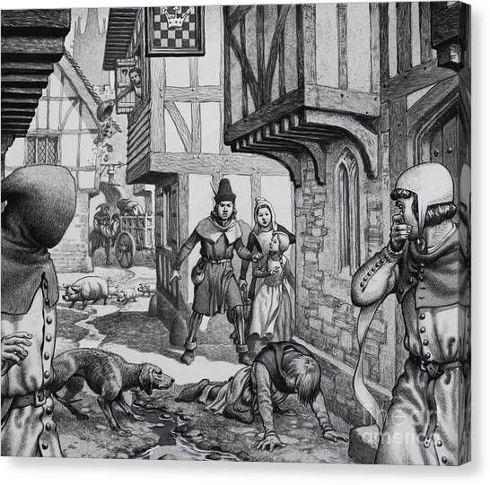 Sick Canvas Print - The Black Death by Pat Nicolle