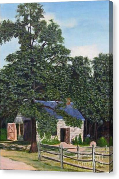 The Blacksmith Shop Canvas Print by Donald Hofer