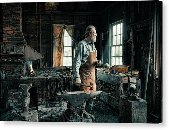 The Blacksmith - Smith Canvas Print